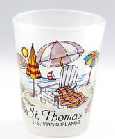 ST.THOMAS US VIRGIN ISLANDS BEACH CHAIR FROSTED SHOT GLASS