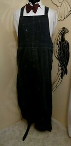1930s 1940s blue denim jeans dungarees overalls workwear - Ditsy Vintage XLarge