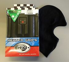 R&G Motorcycle Heated Grips (for 22mm 7/8 Inch Handlebars) FREE Cotton Balaclava