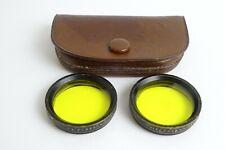 Zeiss yellow filters Rollei Heidoscop stereo camera 28.5 28,5 mm