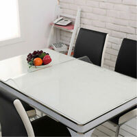 1mm PVC Clear Tablecloth Waterproof Table Protector Kitchen Dining Room Decor US