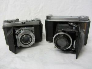 Voigtlander BESSA 66 & Kodak Retina 1a Folding Bellows Cameras