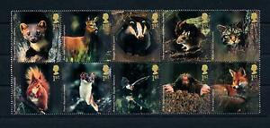 [53232] Great Britain 2004 Forest animals Fox Mouse Cat Squirrel Bat MNH