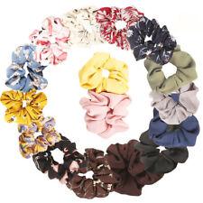 15Pcs Fashion Chiffon Flower Hair Scrunchies Large Hair Bow Elastic Hair Bands