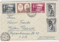 Vatican 1957 to Germany Multiple Cancel & Stamps Cover Ref 23344