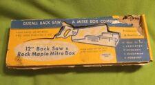VTG ~ DURALL ~ Back Saw ~ Mitre Box Combination ~ Germany 🇩🇪 ~ Box