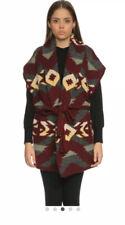 Ralph Lauren Womens Short Sleeve Collar Sweater Vest Hand Knit Size Small BN