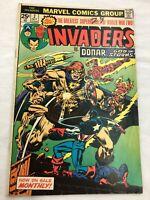 Marvel Invaders October 2 Comic 1975 vs Donar Used