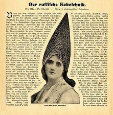 Olga Wohlbrück Der russische Kokoschnik Nationaltracht Hauben Text-& Bildd.1907