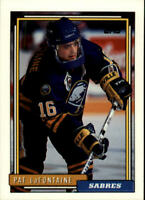 1992-93 Topps Buffalo Sabres Hockey Card #345 Pat LaFontaine