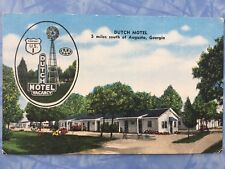 Dutch Motel 5 miles south of Augusta Georgia Postcard Highway Us 1 Windmill A10