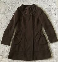 HOT NEW WOMENS MEDIUM SOIA & KYO DESIGNER WOOL LEATHER PEACOAT Retail:$150