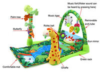 Rainforest Zoo Musical Baby Activity Play Gym Toy crawl Soft Mat Baby Gift