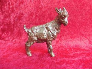 Beautiful, old Bronze Figure, Goat, Solid Bronze