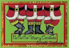 CHRISTMAS SANTA LEGS Wood Mounted Rubber Stamp NORTHWOODS NN10123 New