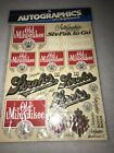 Autographics of California decals 1/10 Strohs Old Milwaukee