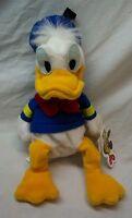 "Walt Disney Store CLASSIC DONALD DUCK 10"" BEAN BAG STUFFED ANIMAL TOY NEW"