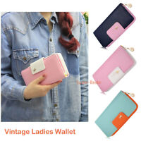 Monedero vintage con monedero de embrague Monedero Lady Long de mujer