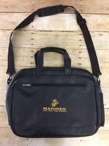 US Army Marines Leather Messenger Bag Laptop Computer Book Shoulder Crossbody