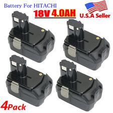 4 X 4.0Ah BCL1815 Battery 18V Li-ion For HITACHI BCL1820 BCL1830 BCL1840 EBM1830