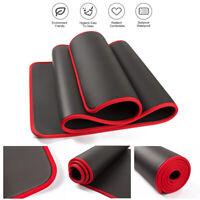 Yoga Mat Thick High Density Eco Friendly Non Slip Anti-Tear Exercise &rope black