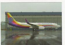 Air Jamaica Boeing B737-86J Aviation Postcard, B008