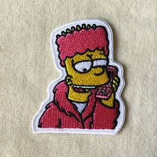 BART SIMPSON PHONE EMBROIDERY IRON ON PATCH BADGE