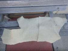 Lot of 2 Tanned Hides - Heavy Texture - Creamy/Off White Color