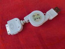 USB LADEKABEL / DATENKABEL für Apple iPhone 3G 4S iPad iPod, weiß, ausziehbar