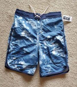 OshKosh Boys Size 10 White Blue Clouds Swim Bathing Suit NWT UPF 50+ Osh Kosh