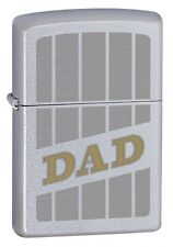 Zippo 205 Engraved Dad - Silver lighter - Petrol Windproof - Gift Box