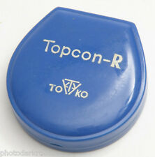 Topcon R 50mm Blue Filter Clam Empty Case Only - Tokyo Kogaku Japan - Used X365