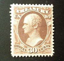 US Official Treasury stamp #O81 mint OG LH XF