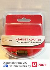 Comsol 2.5mm Stereo male to 3.5mm Stereo female Audio Headset Adapter