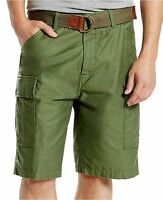 SALE NWT Men's Levi's Fort Belted Cargo Shorts Carrier Ace Squad Army Moss