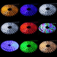 50' 100' LED Flexible Tape Rope Strip Light Christmas Party Outdoor Waterproof