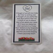 Memorial Grave Card Dad