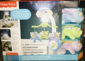 Fisher-Price Butterfly Dreams 3-In-1 Projection Mobile Crib Toy. A+Seller
