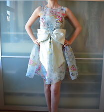 ASOS Japanese Lolita style butterflies & bow blue skater dress ~ UK 10