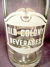 vintage ACL Soda POP Bottle:  OLD COLONY of ELLWOOD CITY, PA - 7  oz. ACL