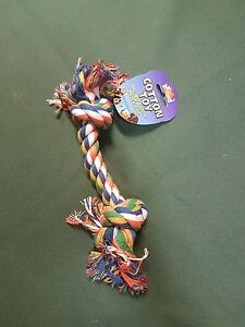 """Dog Puppy Pull Play Knot Rope Toy 15"""""""
