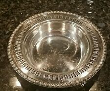 """SHEFFIELD REPRODUCTION SILVER-PLATED on COPPER 9"""" BOWL WINE COASTER, reticulated"""