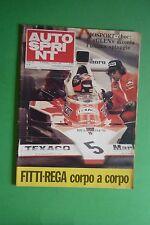 AUTOSPRINT 39/1974 GP CANADA LANCIA STRATOS MUNARI LEO BARTOLI ELIO DE ANGELIS 2