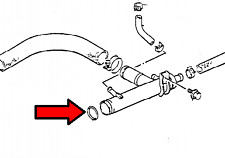 IN STOCK IN USA - Suzuki Samurai 1.3L Water Pipe O-Ring 09280-28008