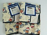 X2 Graydon Hall 3 Piece Kitchen Set Towel DishCloth Scrubber Bistro Chef