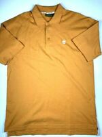 Mens TIMBERLAND Short Sleeve Polo Shirt Size L Color Sepia