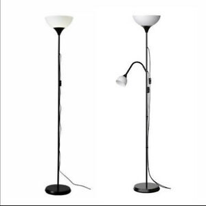 IKEA Floor Standing Reading Light Night Tall Lamp Uplighter Multi Purpose Black