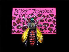 Betsey Johnson Rhinestone Natural Insect Crystal Honey Bee Brooch