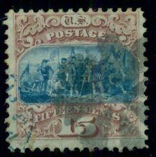 US #118 15¢ brown & blue, type I, used, Miller certificate, Scott $800.00