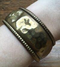 Vintage Gold Tone Brass? Bangle/ Bracelet/Retro/1970's/80's/Hippy/Boho/Hammered